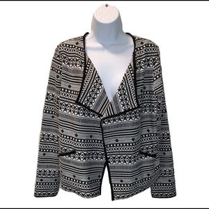 Sanctuary Open Front Aztec Print Jacket